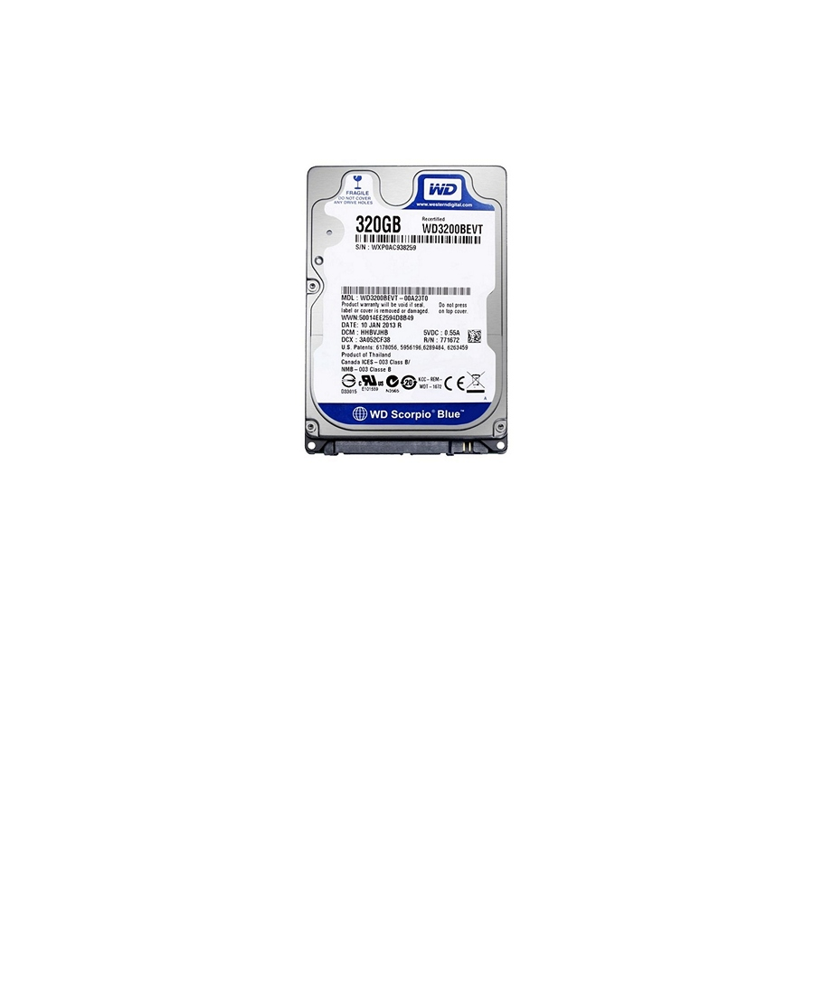 Hard Disk Western Digital WD3200BEVT 320Gb