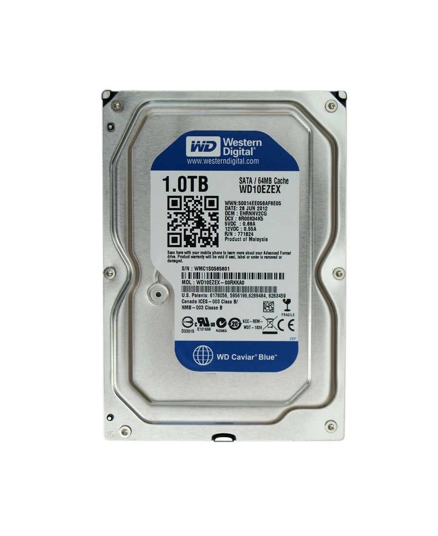 Hard Disk Western Digital 1Tb WD10EZEX Blue