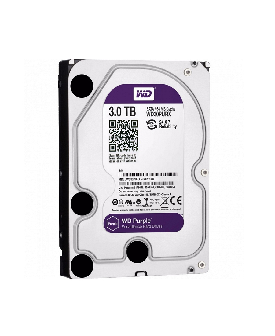 Hard Disk Western Digital 3Tb WD30PURX Purple