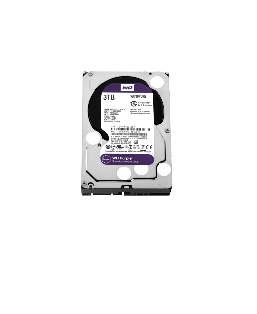 Hard Disk Western Digital 3Tb WD30PURZ Purple