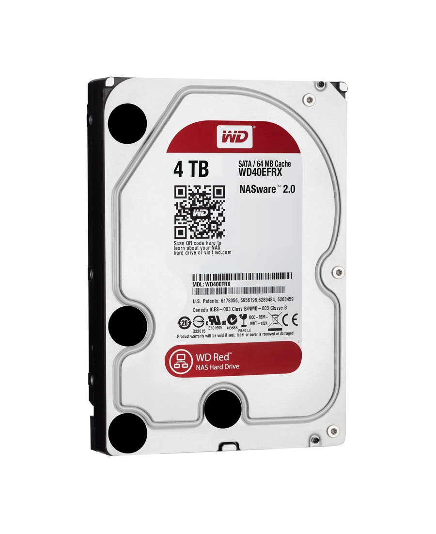 Hard Disk Western Digital 4Tb WD40EFRX Red
