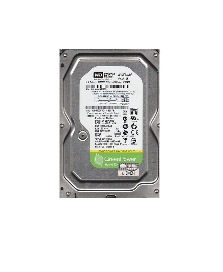 Hard Disk Western Digital 500Gb WD5000AVDS