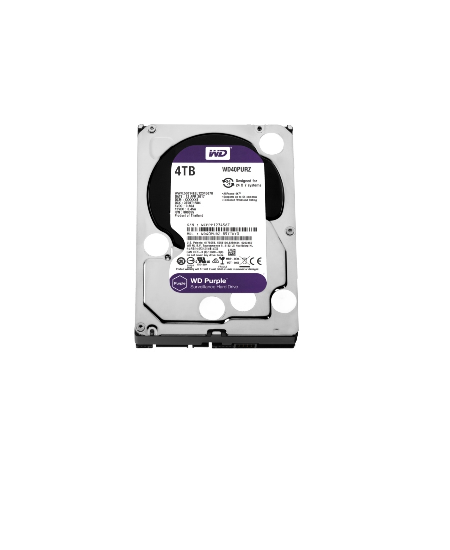 Hard Disk Western Digital 4Tb WD40PURZ Purple