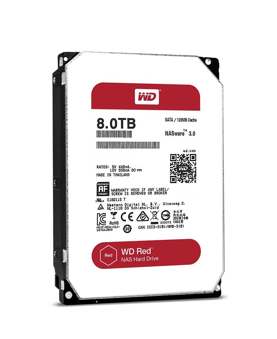 Hard Disk Western Digital 8Tb WD80EFZX Red