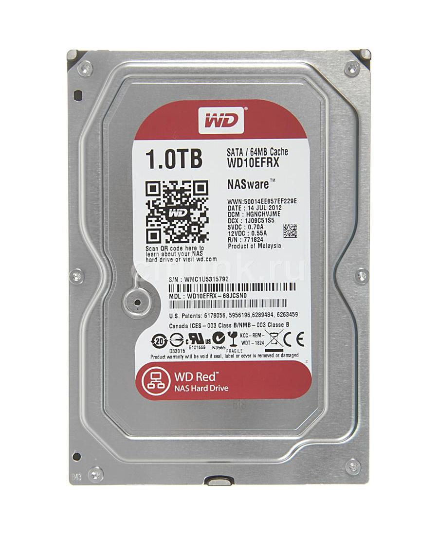 Hard Disk Western Digital 1Tb WD10EFRX Red