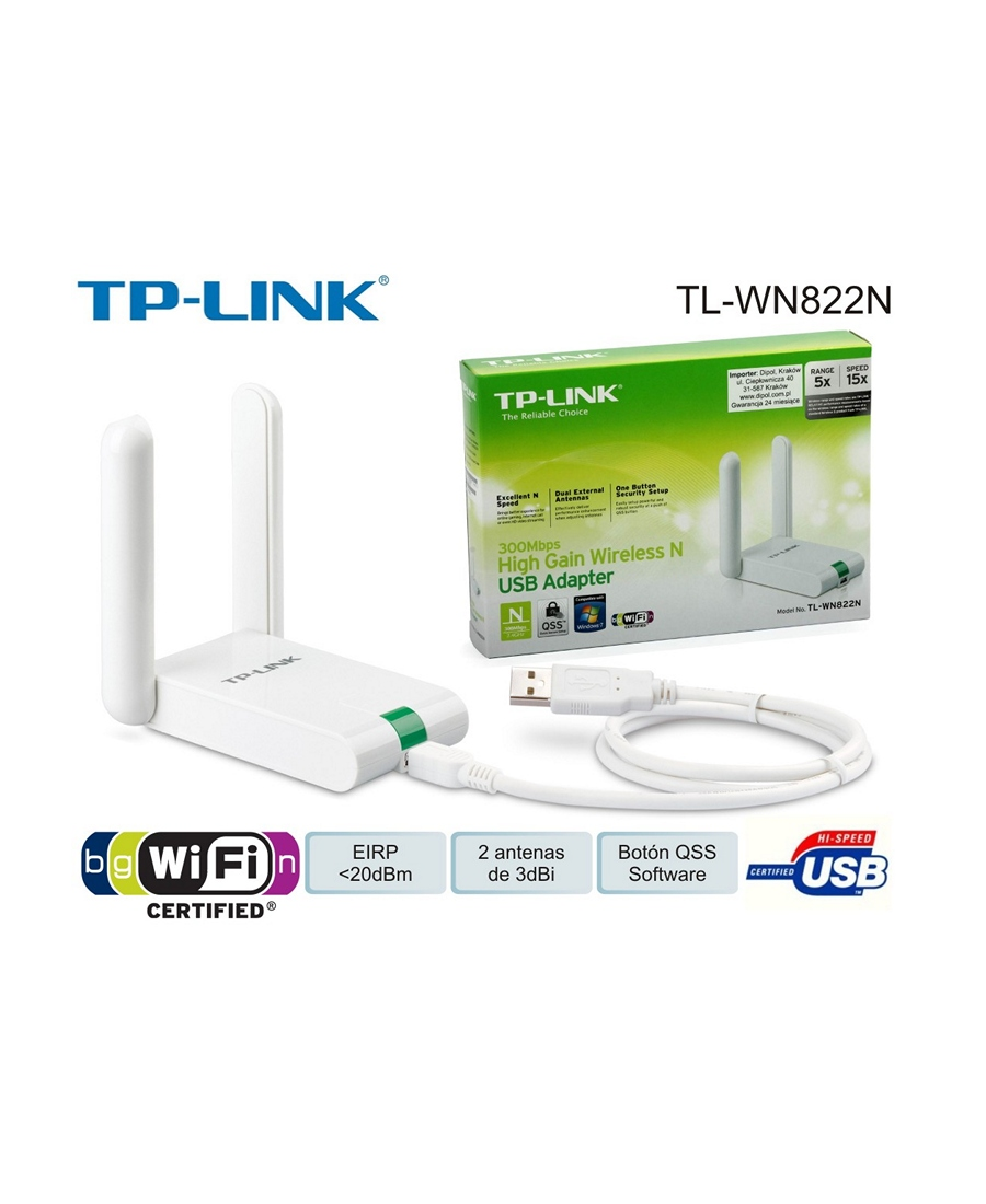 Adaptor USB Wireless TP-LINK TL-WN822N