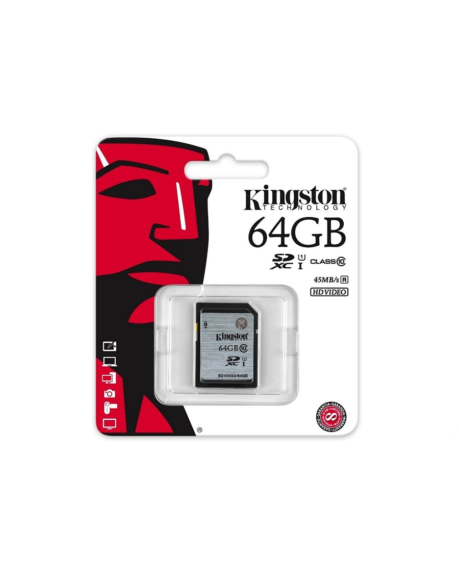 SDHC Kingston 64 GB Class 10, UHS-I, 300X