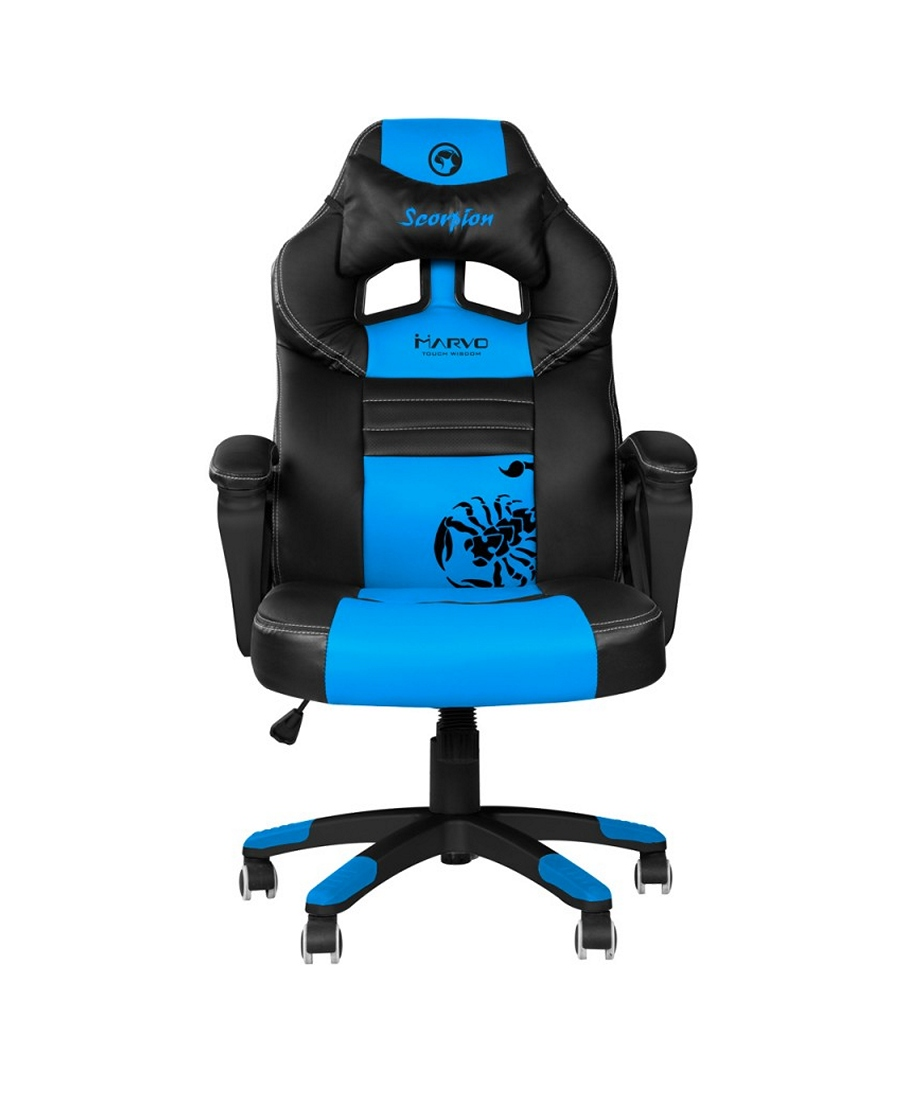 Scaun Gaming Marvo CH-105 Black-Blue