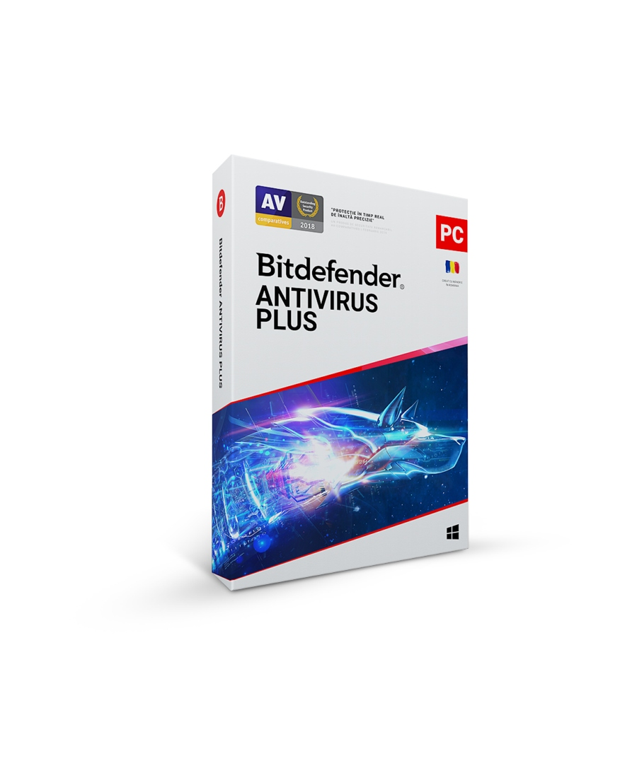 Bitdefender Antivirus Plus 2018, 1 An, 1 Dispoziti